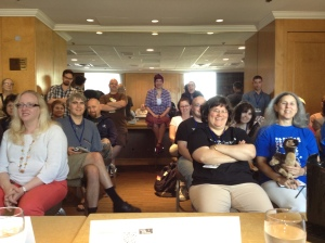 My first WorldCon panel audience - in 2012 - with surprise Klagor.