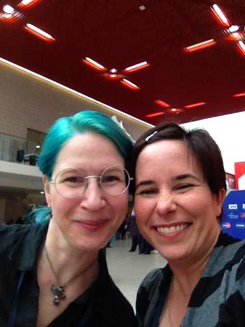 Nene and Fran at LonCon, summer 2014!