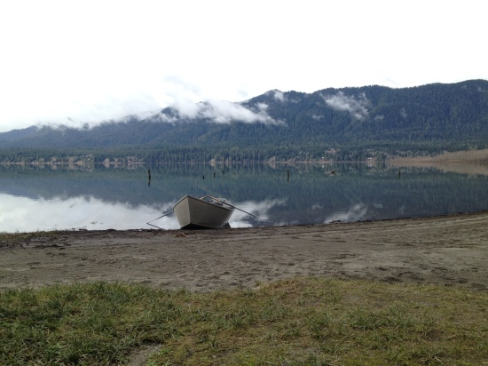 Never enough lake photos. This time with plot element.