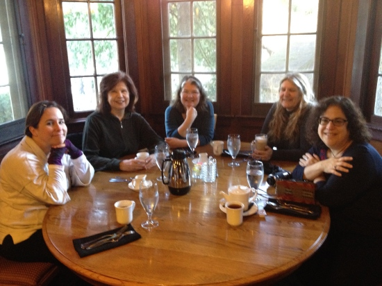 Breakfast off campus with Nancy, Maura, Brenda, and Janna