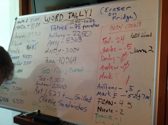 The board, mid-session.