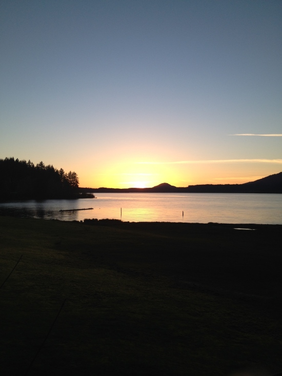 Lake, with character shift