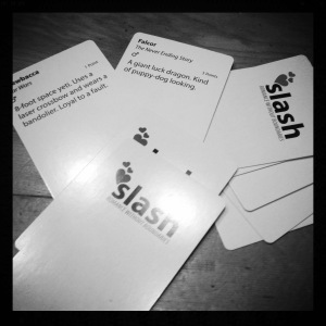 Shiny new game called Slash, courtesy of Sarah & Mike