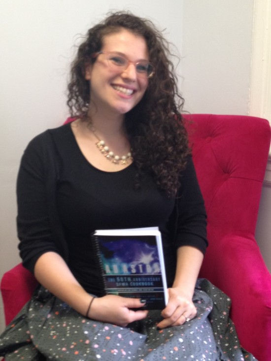 """Editor Miriam with her author copy - she and I shared a recipe called """"Falling Cloud Cake"""""""