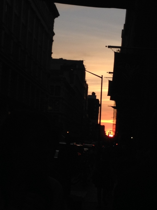 I almost saw Manhattanhenge! Another time, NYC.