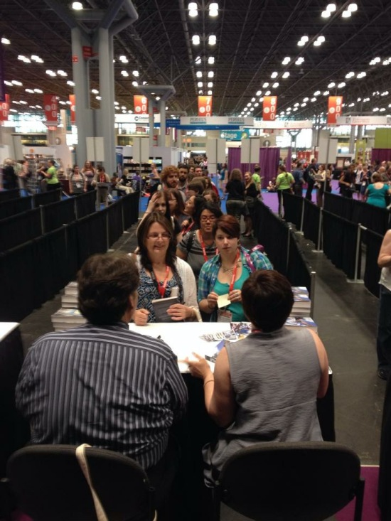 The line went into overflow and had to be cut off for time! Sorry friends -- I hope I can sign a book for you in the future.