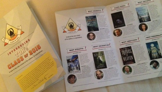 Tor Books did an amazing job on the promo booklet - Look ma! Most Athletic!