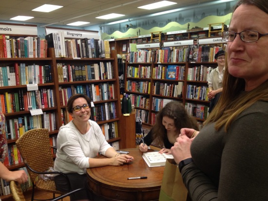 Signing at Wellesley Books with surprise Elizabeth Bear
