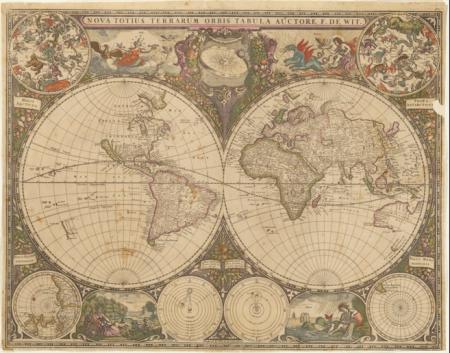Orbus Terrarum, 1660, Frederick de Witt (source: wikimedia commons)
