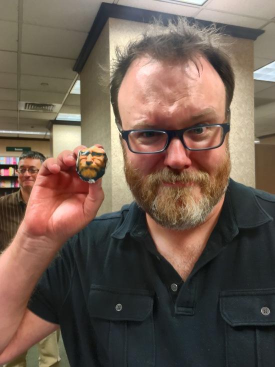 Chuck Wendig & Chuck Wendig Cupcake. Yeah. I went there.
