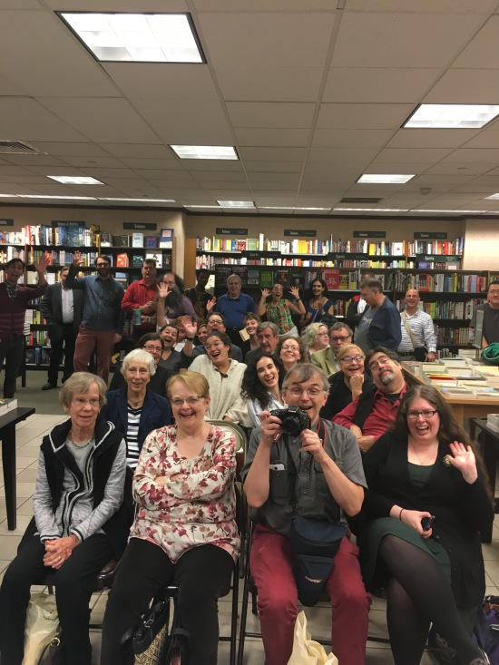 Fabulous packed house before the Barnes & Noble Rittenhouse Square shenanigans began (apologies if you were on the sides - my pano photo borked)