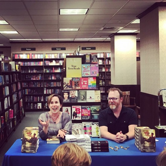 Fran Wilde & Chuck Wendig at Barnes & Noble Rittenhouse Square photo credit Carmen Machado