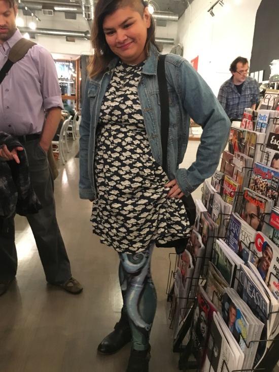 Cloudbound appropriate fan gear! Maia styles a cloud dress and tentacle leggings!